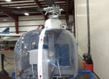 Thermoforming of a Clear Polycarbonate Helicopter Window