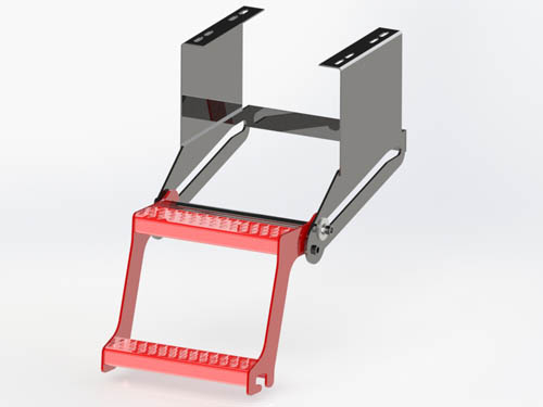 Fabrication Of Retractable Step Assembly Trucking Industry